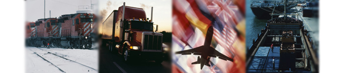 Train, Truck, Airplane, and Ship Banner